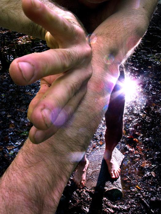 "Hand over body, #13  ,  2010,42"" x 33"", Pigment print"