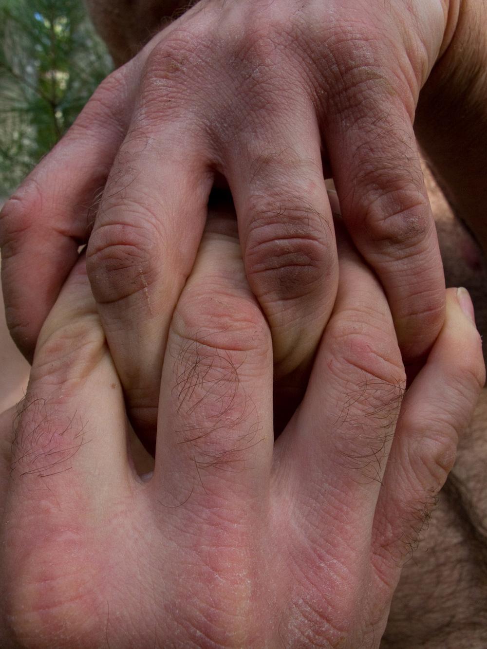 "Clasped hands, #19  ,  2010, 43"" x 34"", Pigment print"