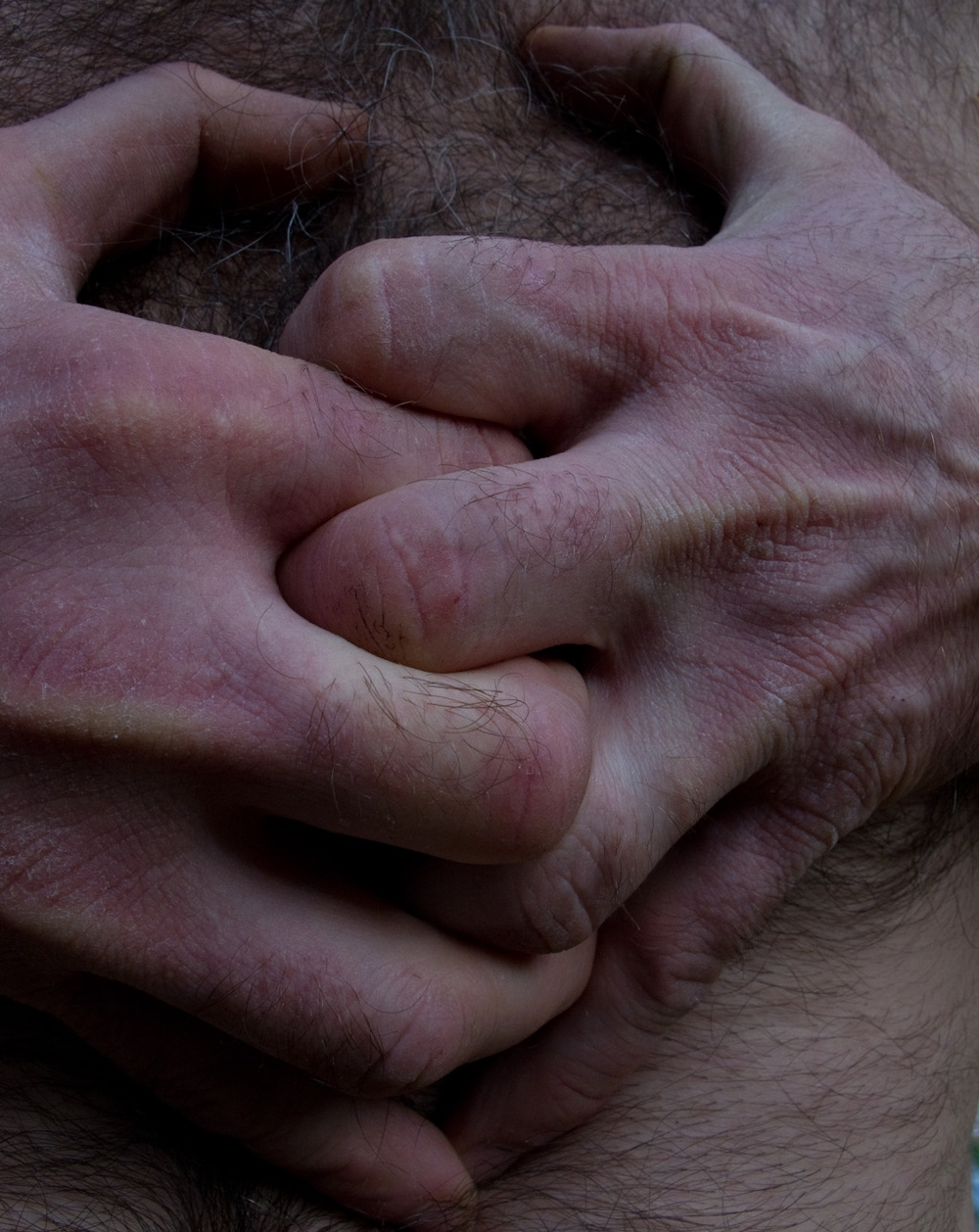 "Clasped hands, #108  ,  2010, 43"" x 34"", Pigment print"