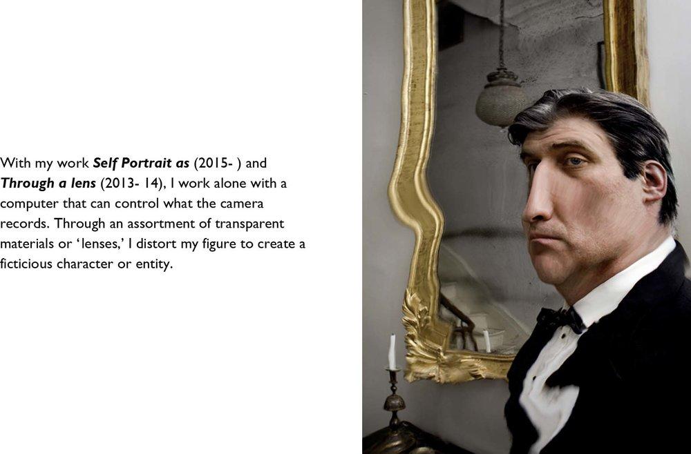 """Self Portrait as Mr. B    2015,43"""" x 29"""",Pigment print"""