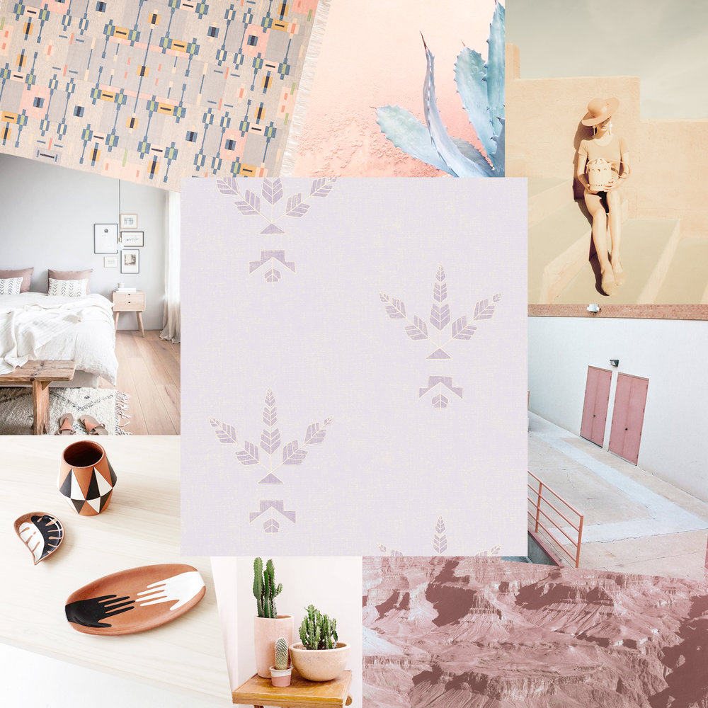 Featuring our new Desert Bloom wallpaper in Petal