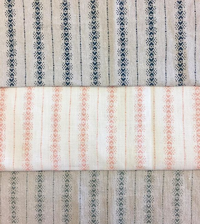 Brand new Dorado fabric 🐣 Available in Indigo, Peach and Sage 💙🍑💚