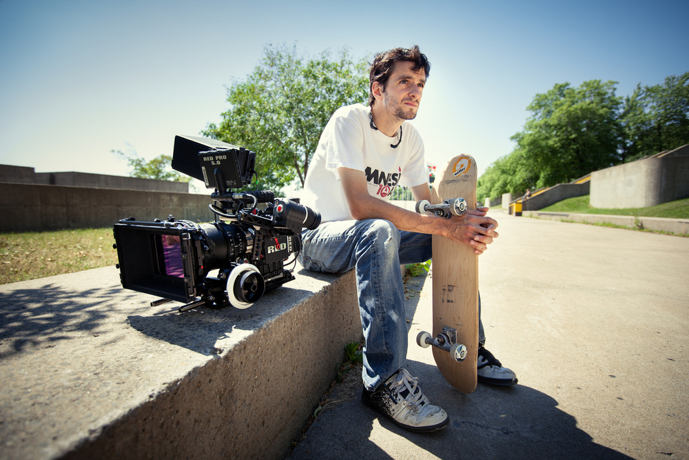 Frank Lavalee - Skateur Tournage de Rueda un documentaire de Jeremy Comte.