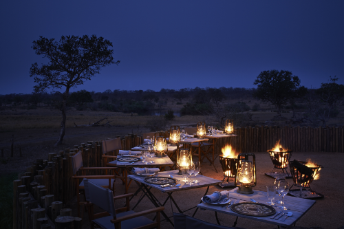 Castleton's boma overlooking the waterhole