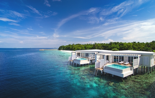 Amilia Fushi, Maldives  Miami meets the Maldives at Amilla Fushi. With a growing list of A-list guests including Kate Moss who shares her love letter to the hotel in Chic Stays. Spend your days diving in the UNESCO-protected Baa Atoll, swimming in the brilliantly blue waters framing your villa, and sampling the freshest sashimi.