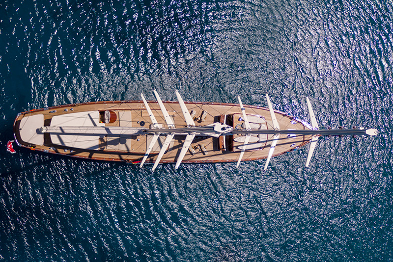 The classic sailing yacht: Satori    With all the comforts of a refined boutique hotel, the traditional hand-built wooden schooner, Satori, is the newly launched 41.5-metre yacht designed by the super stylish Danish owners of  Borgo Santo Pietro  in Tuscany. Expect Michelin-starred dining, an on-board spa and all the water toys you could dream of for a state-of-the-art sailing odyssey across the Mediterranean.