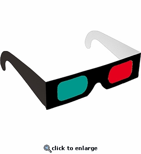 Red/Cyan Black Frame Shop Here