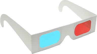 Paper Anaglyph Red/Cyan 3D Glasses Shop Here