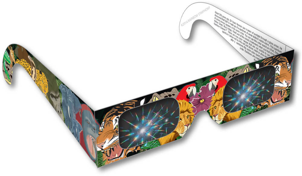 Safari Animals Rainbow Glasses Shop Here