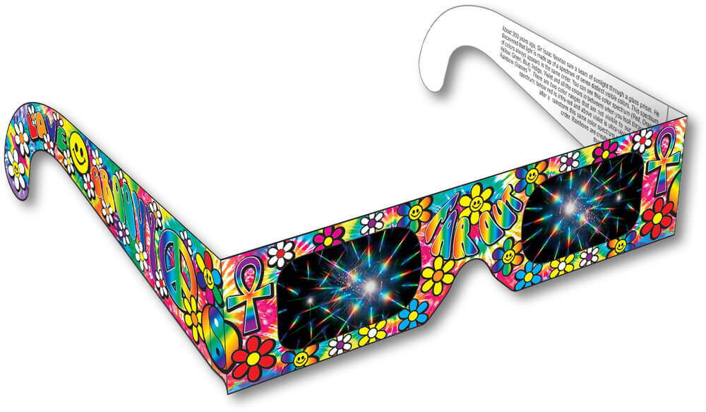 Groovy 60's Rainbow Glasses Shop Here