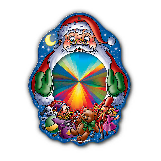 Rainbow Santa Sun Catcher   Shop Here