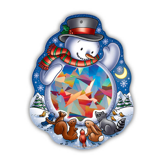 Rainbow Snowman Sun Catcher   Shop Here
