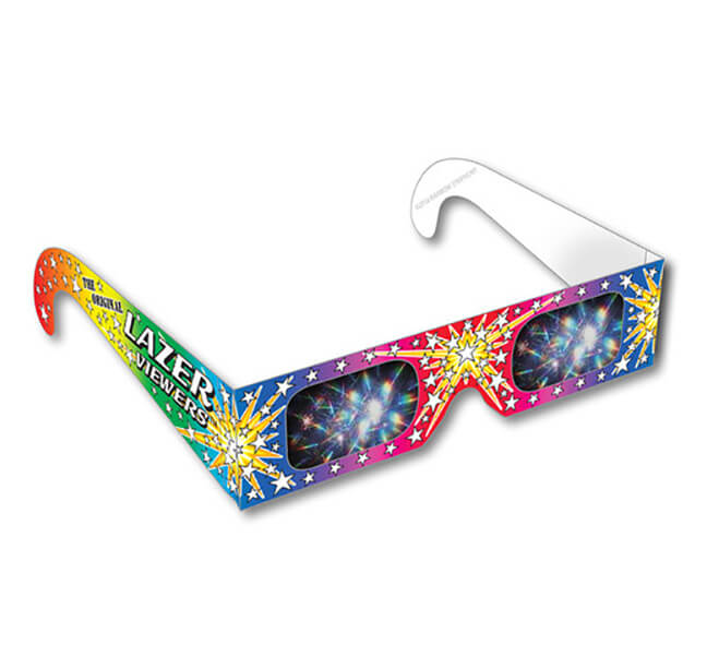 Lazer Viewers 3D Fireworks Glasses Shop Here