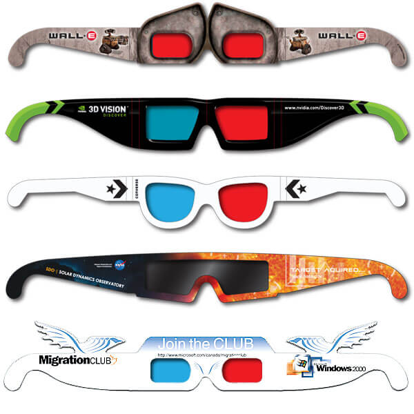 "Custom 3D Glasses        Whatever you need...We can help create it! We have years of experience and references and happy to share them. Give us a call and talk to one of our seasoned ""3D"" staff."