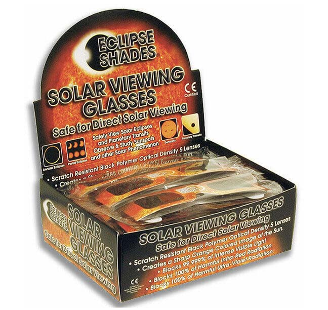 Eclipse Shades® with Retail Display Box - 50 Eclipse Glasses   07180    S OLD OUT