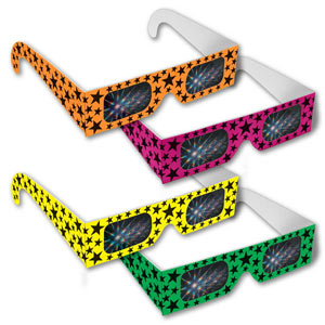 Assorted Neon Stars Fireworks Glasses     Shop Here