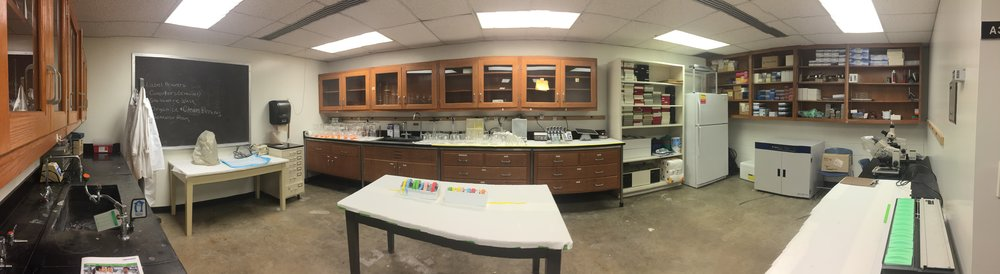 10-24-16 Main lab is unpacked, pretty organized, and glassware is clean! Thank you Shana, Chris, Maddie, Abby, Amanda, and Camron! Now we just have to get the procedure and behavior rooms sorted out.... :)