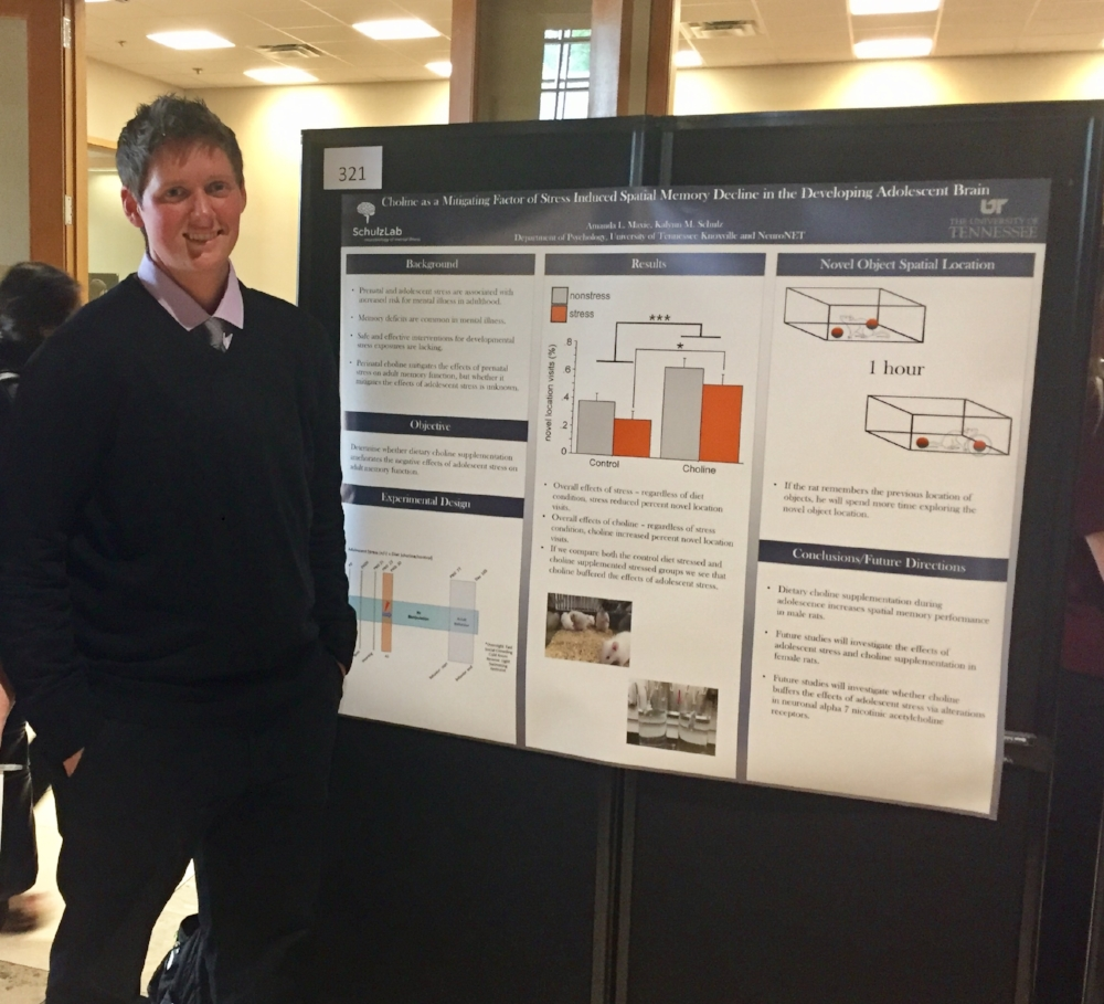 4-24-17 Amanda Maxie's poster presentation awarded 1st place in Neuroscience for the College of Arts and Science at the Eureca Undergraduate Research Symposium! -