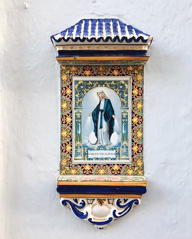 hail queen mary virgin mother of the christ hear my confessions  over brunch and coffee biscuits, gravy, orange juice  i will unleash my secrets sub {yours can be explained} #icon #virginmary #travel #puertoricogram