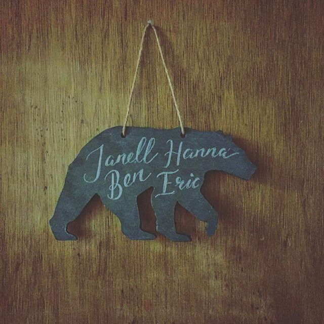 Custom wood cut painted with chalkboard paint for overnight rooms. A simple and creative way to add some character, and make your guests smile at the same time. #laserengraved #lasercut  #woodcut