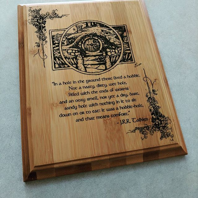 A great custom plaque utilizing David Wyatt's wonderful drawing. The bamboo absolutely pops with the black paint utilized to bring out all the great details. This was a fantastic project to work on! #laserengraved #laserengraving #woodengraving #bambooengraving #davidwyatt