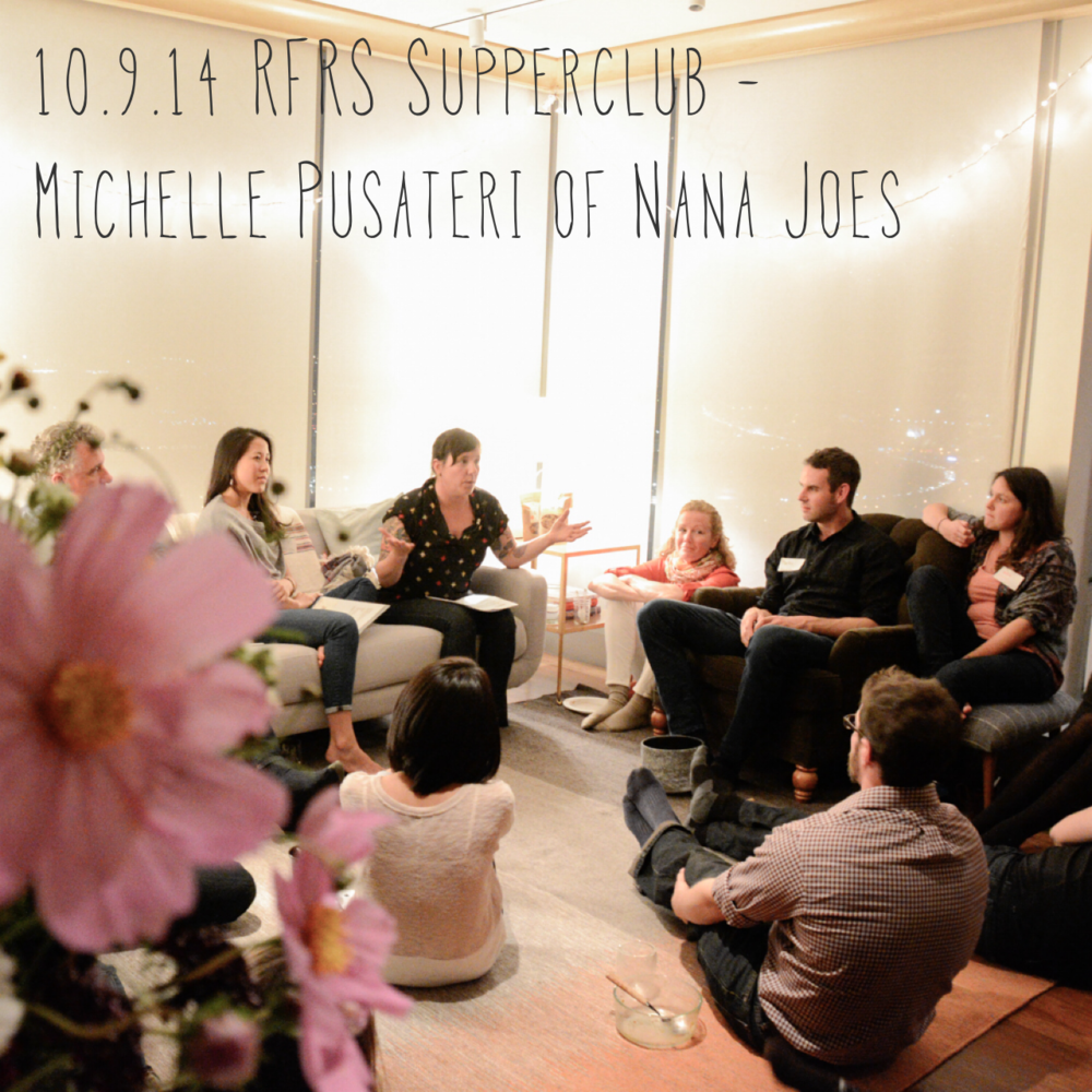 50 passionate individuals from across the food industry gathered to share a farm fresh family meal, connect with each other and listen deeply to Michelle Pusateri, owner of Nana Joes Granola. Nana Joes produces some of the best granolas in the country, sourcing directly from farmers and never compromising its ingredients and processes.Check outphotos from the gathering.
