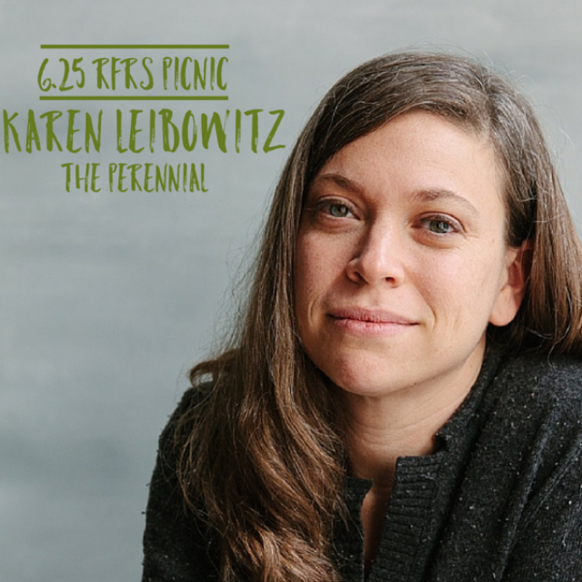 70 people gathered at the brand-new The Perennialrestaurant to hear co-founder Karen Leibowitz's powerful story transitioning from teaching as PhD in English to pioneering a haute cuisine restaurant that champions progressive farming methods to reverse climate change.