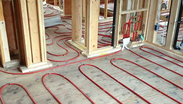 Hydronic for multi-surface flooring