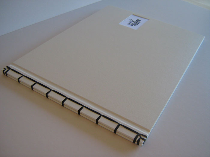 Japanese bound covers with insert on front
