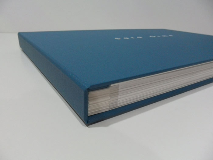 Post bound folder with mounted pages