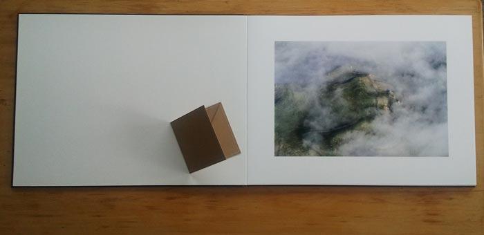A2 flushmount album (disc cover for size comparison)