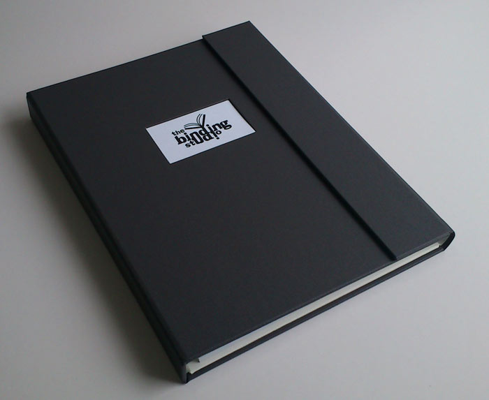 Compendium with business card insert and magnetic closure