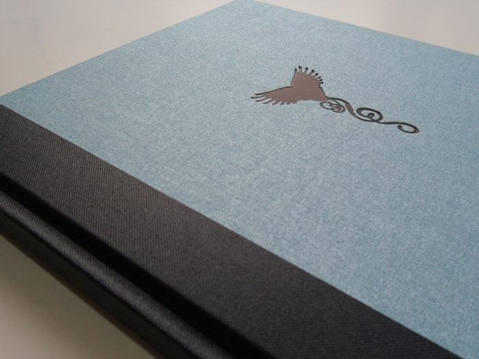 3/4 bind & navy foil