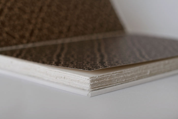 Custom end-paper and deckled page edges