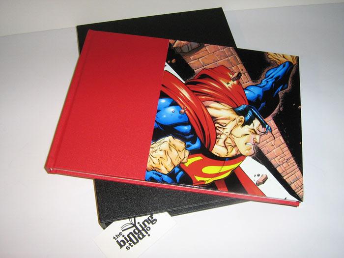 Sewn book & slipcase (cover: image wrap)