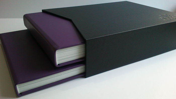 Wedding albums in slipcase