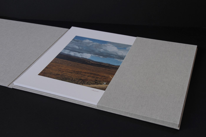 Interior of print folder