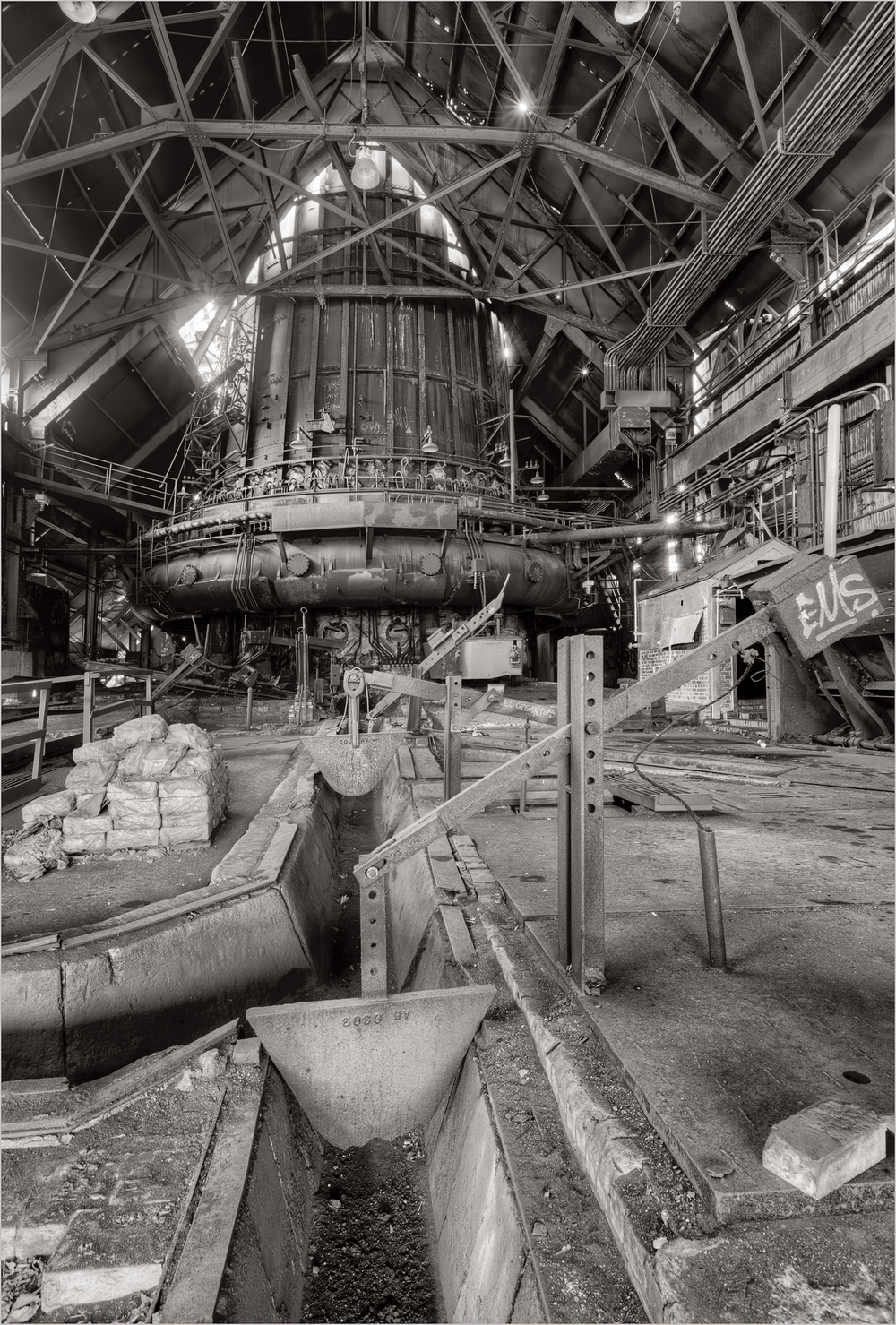 The Cast Room at The Carrie Furnace.