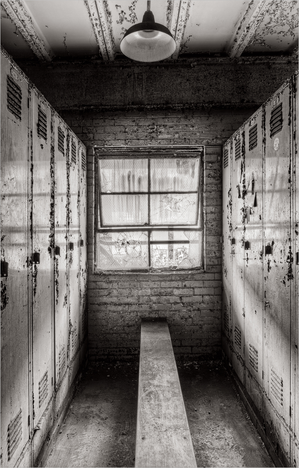 The workmen's locker room at the Carrie Furnace.