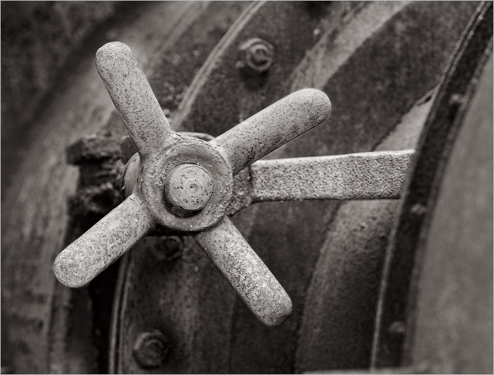 A latch used to open and close the stoves at the Carrie Furnace near Pittsburgh, Pennsylvania.