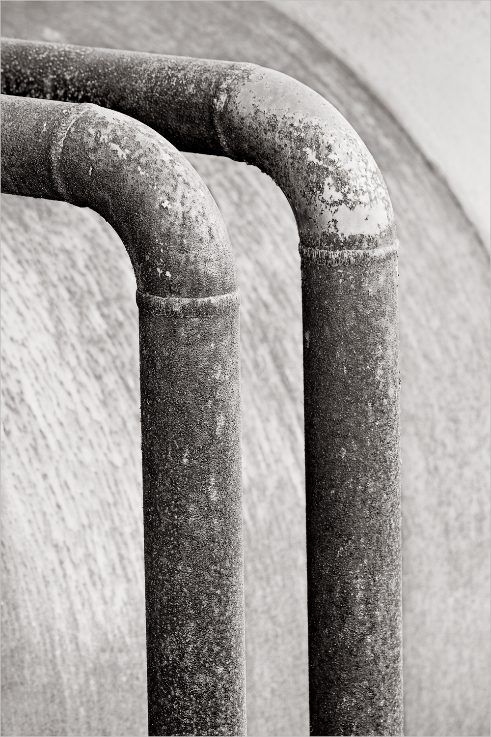 Welded pipes at the Carrie Furnace in Western Pennsylvania