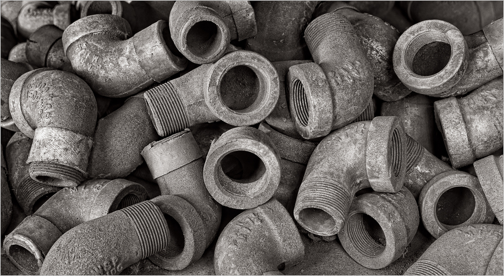 Elbow pipes found in the pipe-fitters shop at the Carrie Furnace.