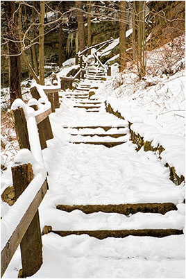 Snow Covered Staircase, McConnell's Mill State Park, Portersville, PA