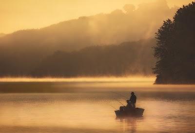 Fishermen on Lake Arthur