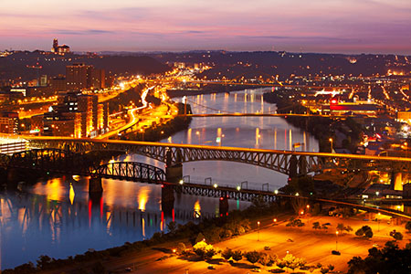 Pittsburgh Sunrise Seen From Mount Washington