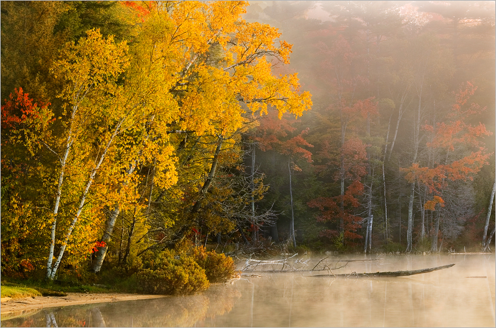 Autumn scene at Pete's Lake in Michigan's Upper Peninsula.