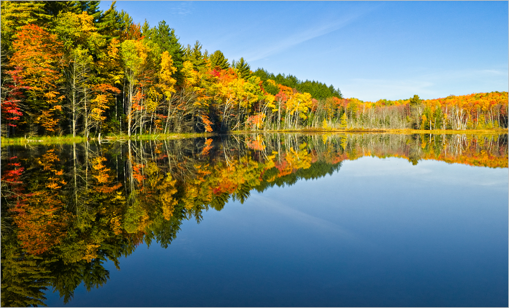 Fall colors at Council Lake in Michigan's Upper Peninsula.
