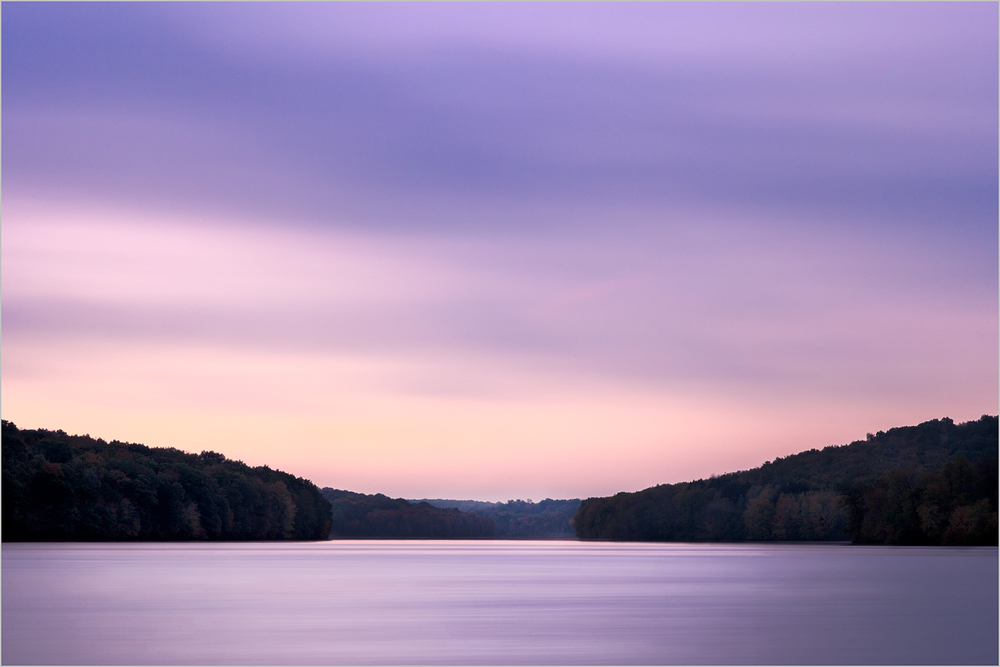 Sunrise at Lake Arthur in Moraine State Park, Pennsylvania
