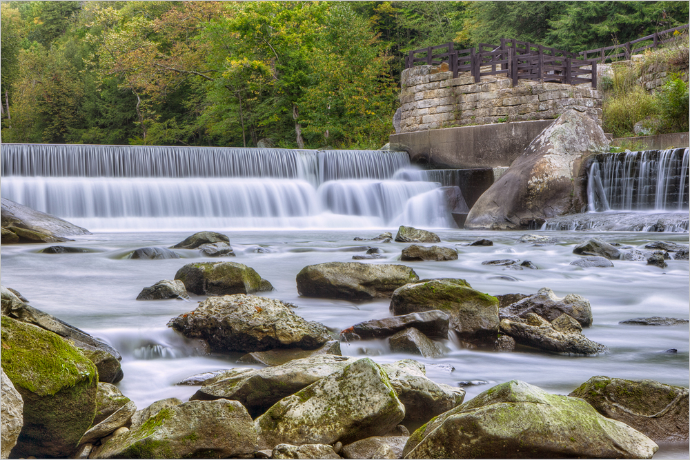 The mill overlook and waterfall in McConnell's Mill State Park.  © Howard Grill