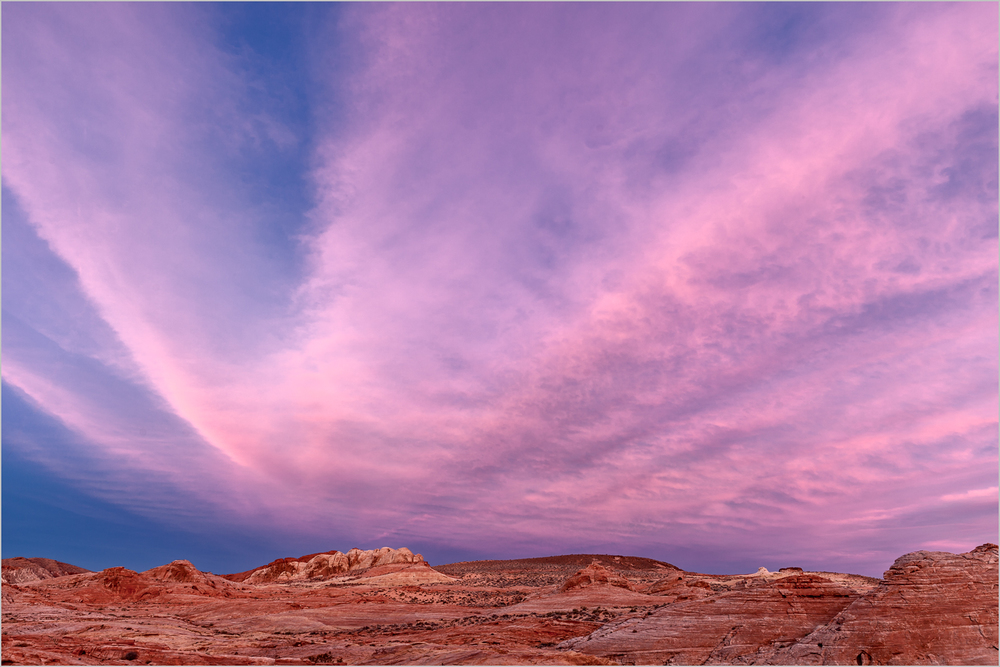 Sunset in Valley of Fire State Park, Nevada   © Howard Grill